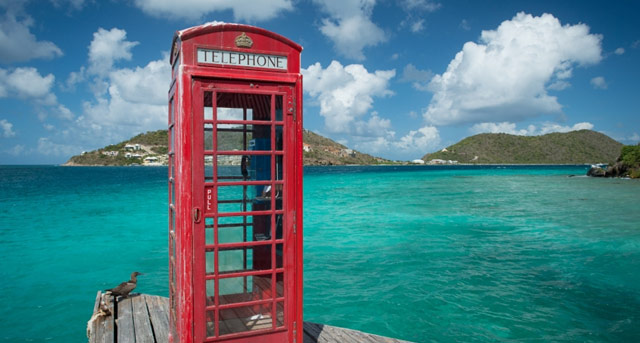British Virgin Islands telephone box
