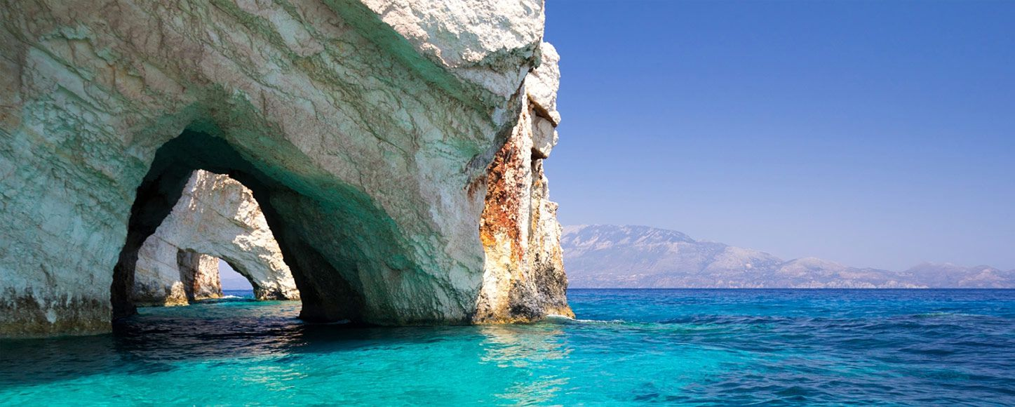 Exploring caves on a luxury yachting vacation