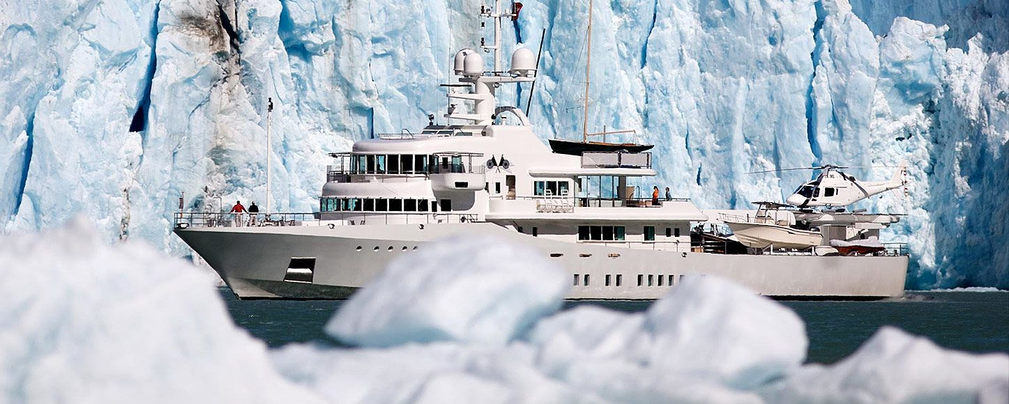 Expedition yacht Senses in the Artic ice