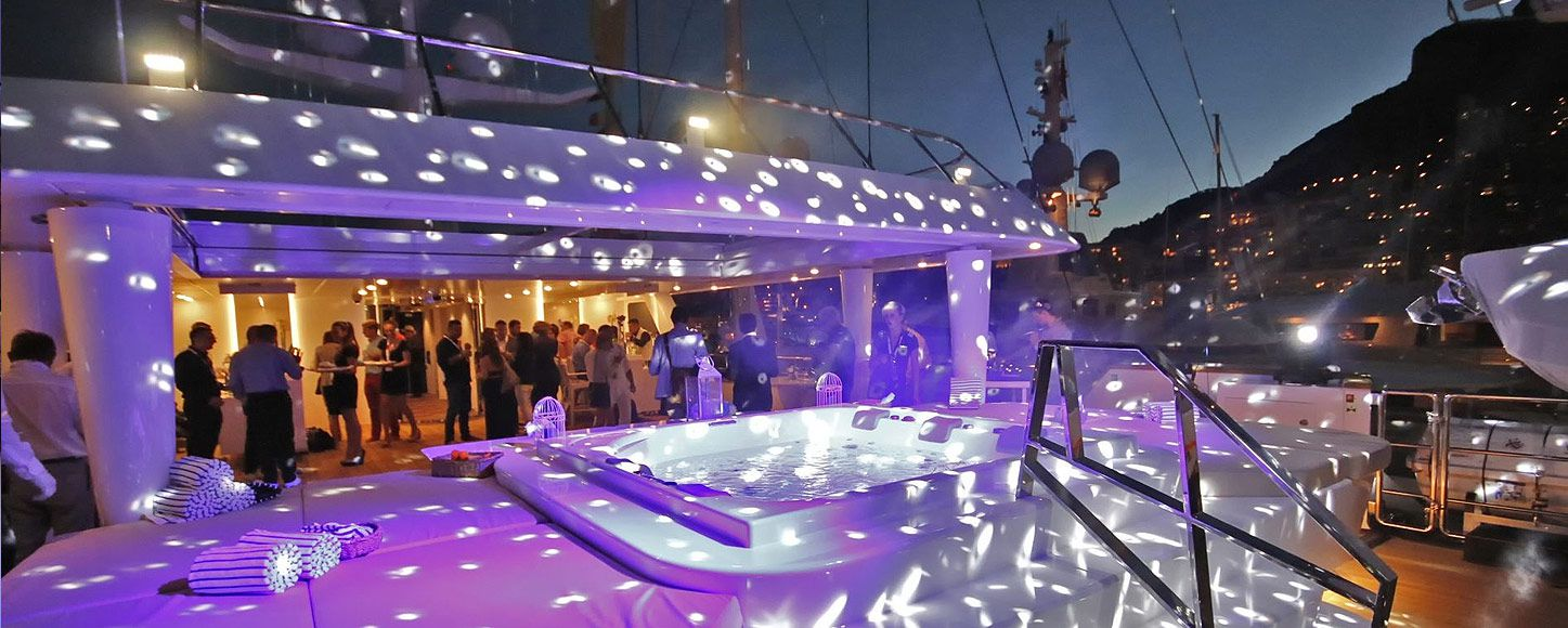 Evening event on the corporate yacht Katina