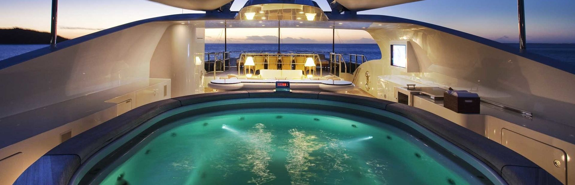 Charter yacht Jaguar on deck pool