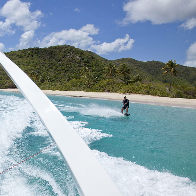 Charter Yachts with Waterskis & Towable Toys