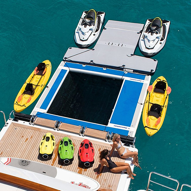 Charter Yacht with Floating Pool