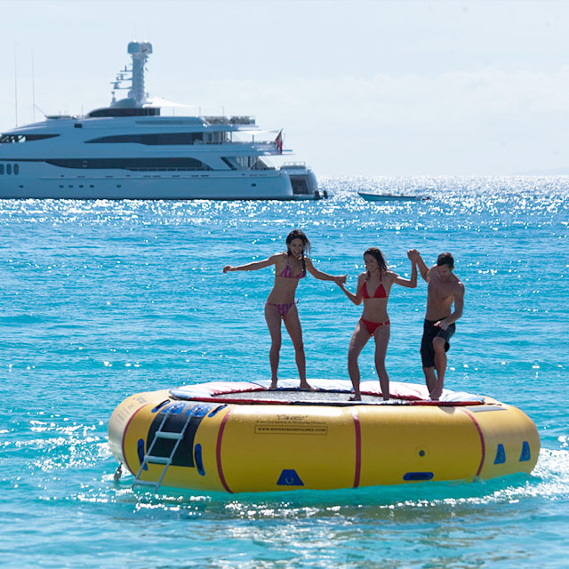 Charter Yachts with a Waterpark