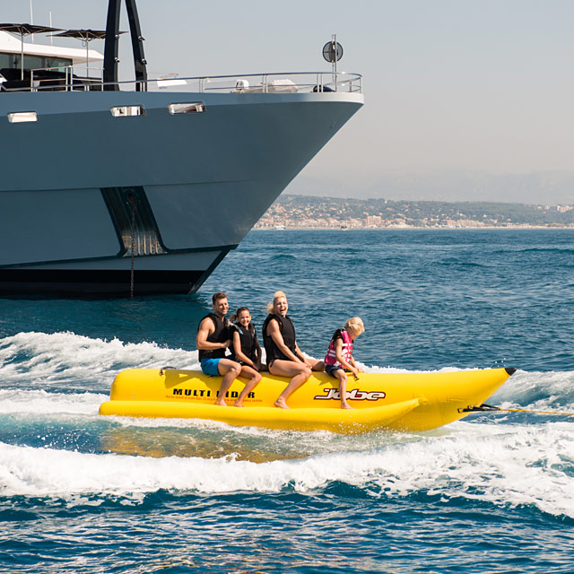 Charter Yachts with Towable Inflatables