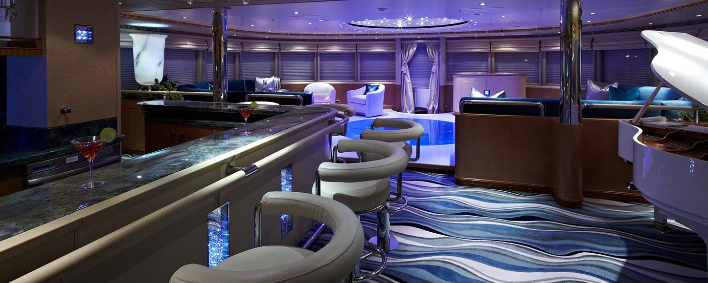 Disco area on the charter yacht Pegasus VIII