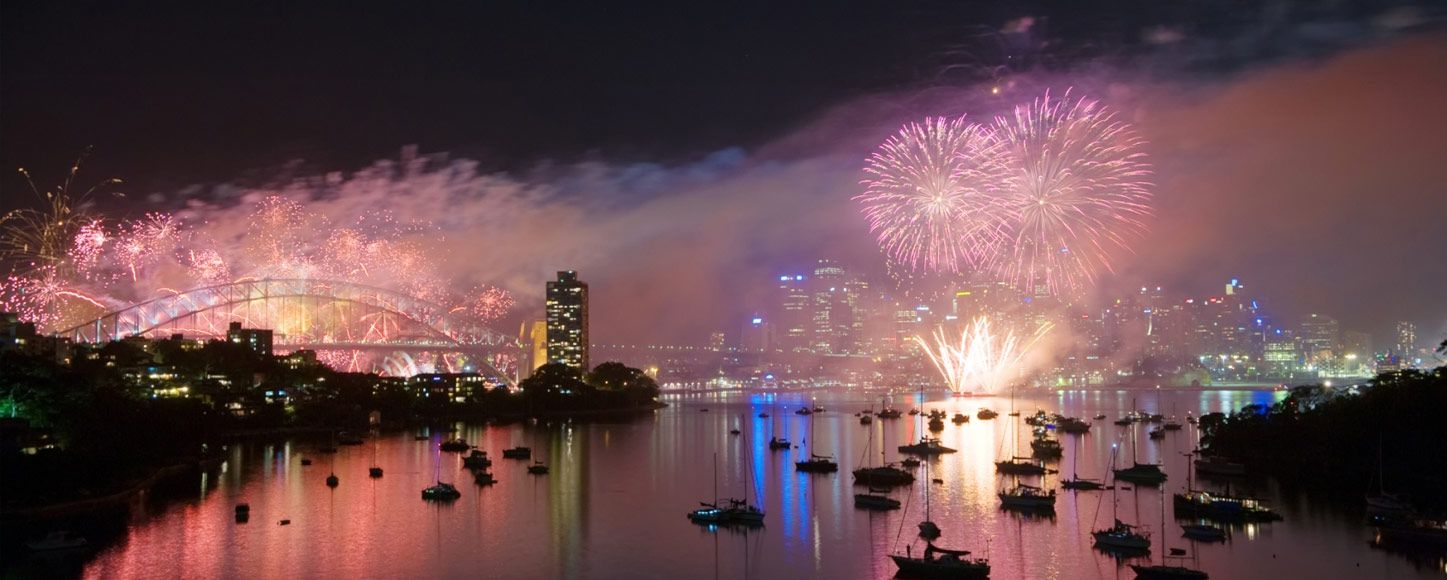 New years fireworks at Sydney Harbour