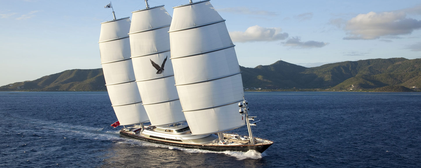 Sailing Maltese Falcon running shot