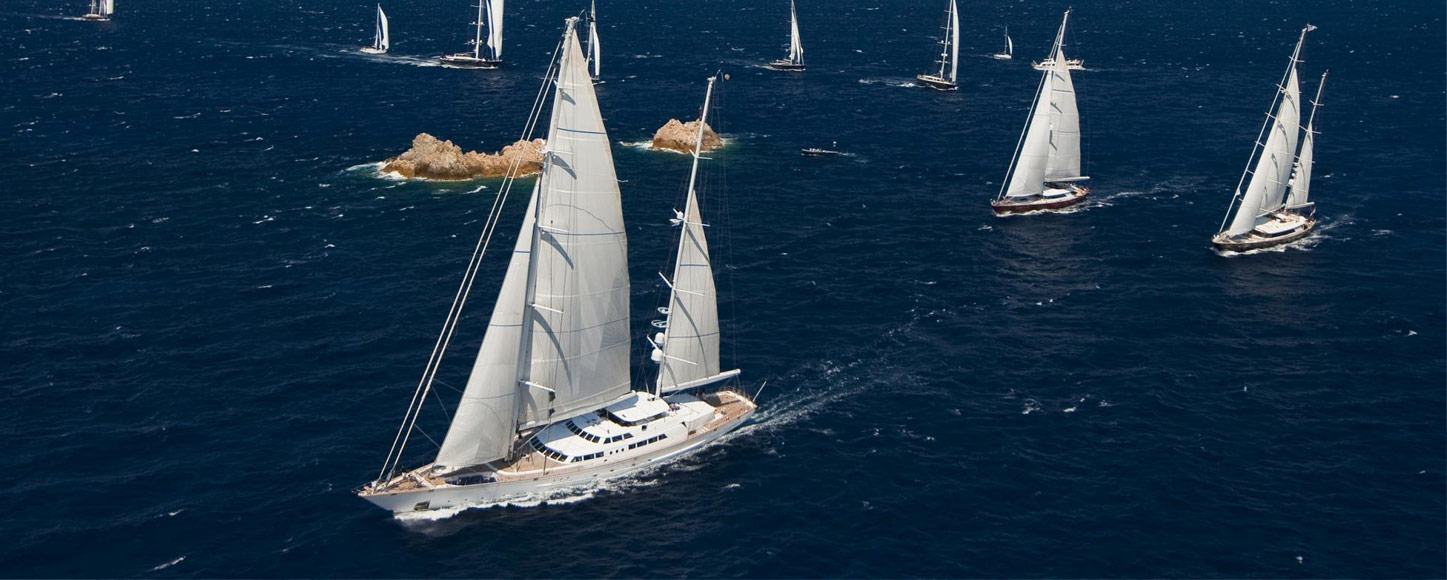 Sailing yacht regatta