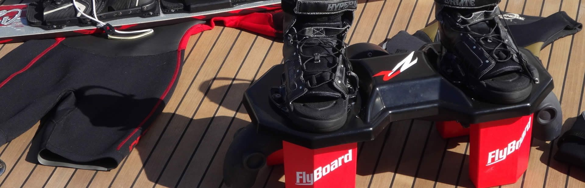 Flyboard charter toys ready to be used