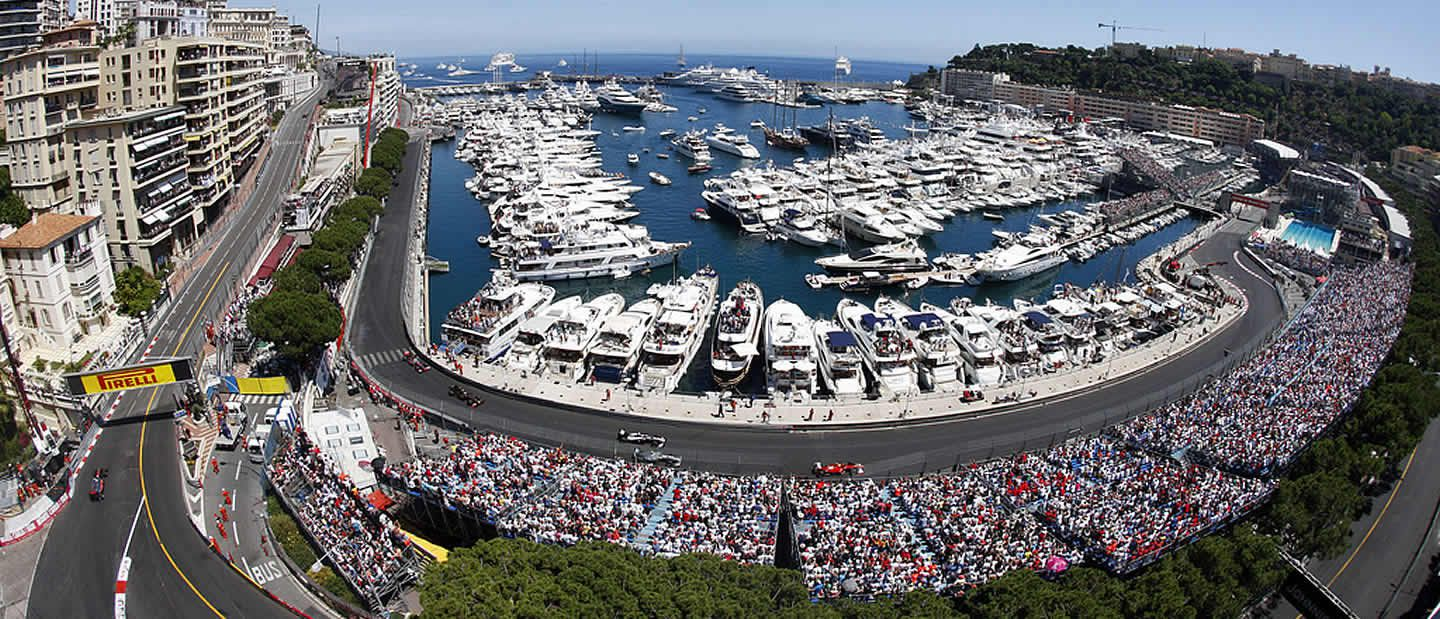 Monaco Grand Prix with Charter Yachts in harbour