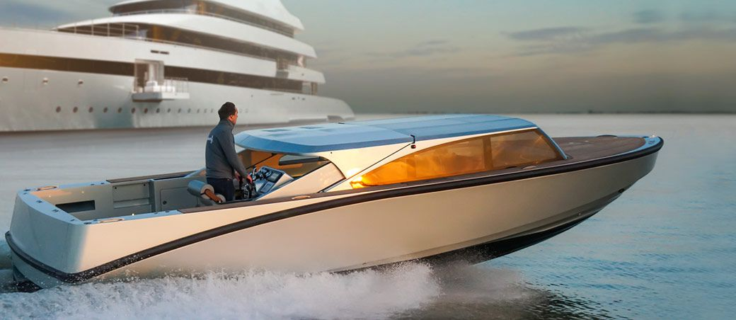 Superyacht with Limo Tender