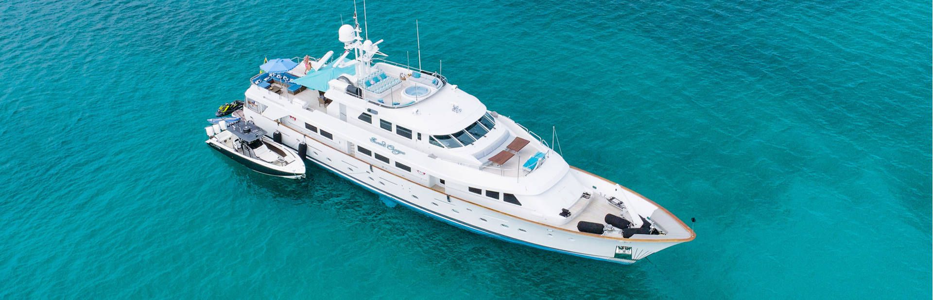 Motor Yacht Sweet Escape at anchor