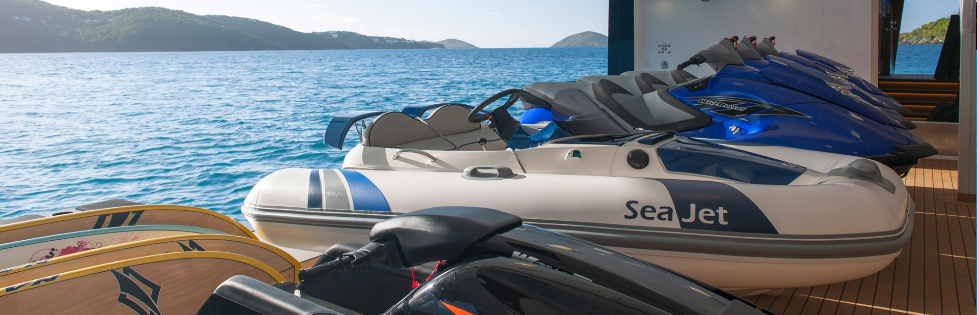 Charter toys ready to be sued on the yacht Solandge