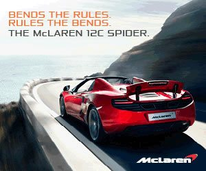McLaren 12c Spider Advert