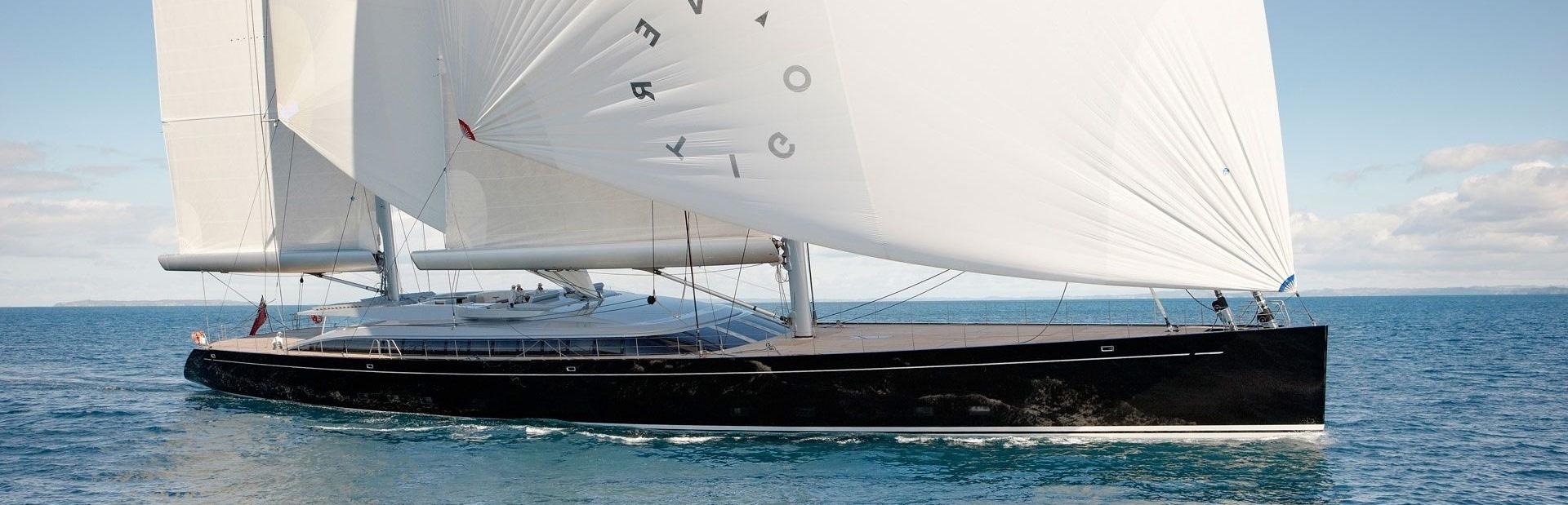 Sailing Yacht Vertigo Running Shot